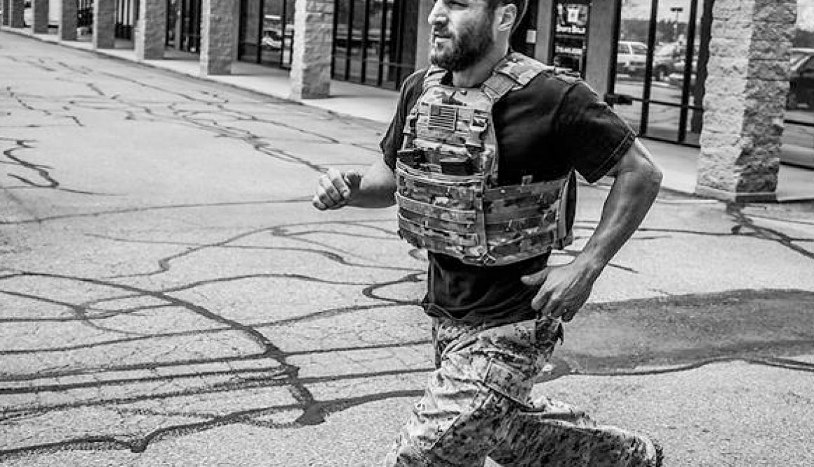 Running with vest